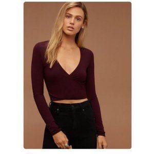 Aritzia Wilfred Free   Bethann Cropped Blouse